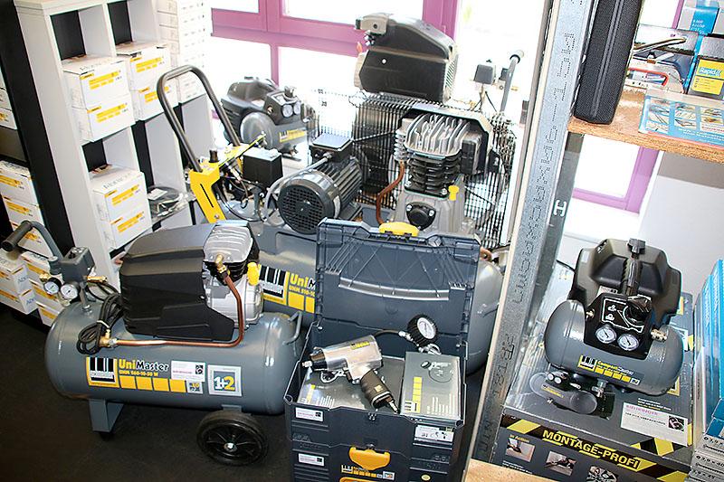 Auswahl an Druckluftmaschinen – vom Montagekompressor bis zum stationären Gerät