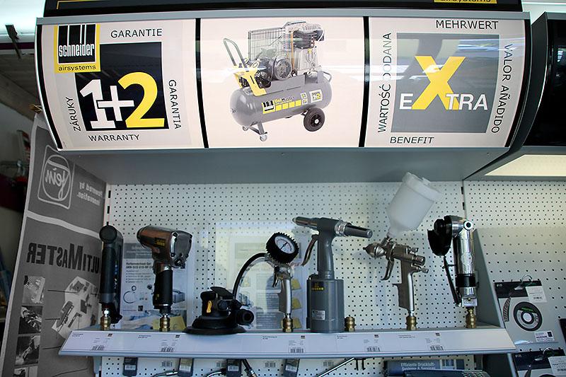 Auswahl an Druckluft-Werkzeugen